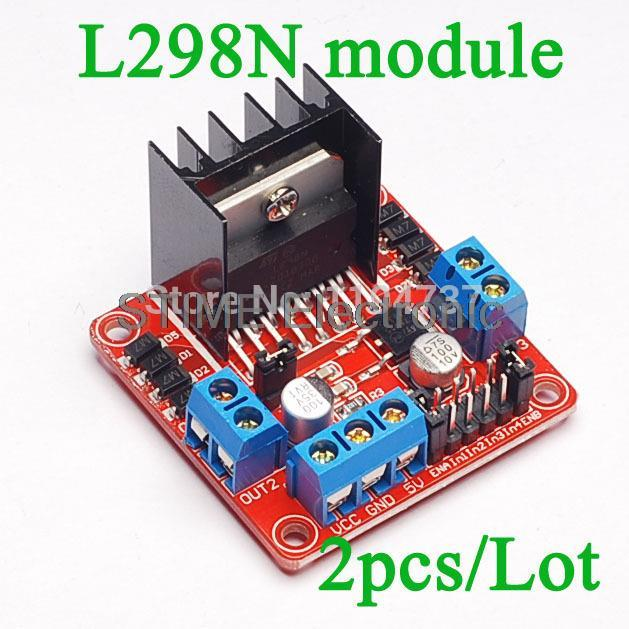 Free Shipping!! 5pcs/lot L298N motor driver board module for arduino stepper motor smart car robot(China (Mainland))