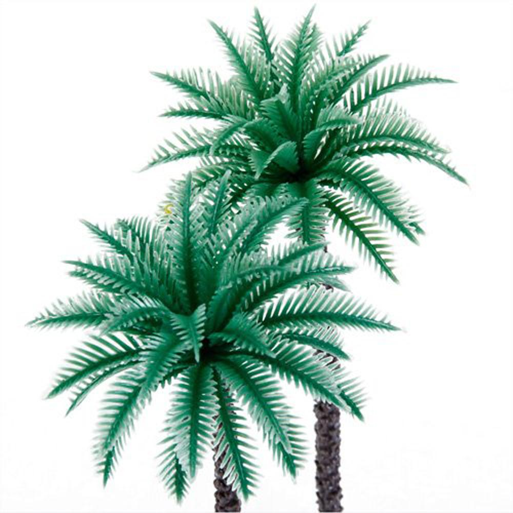 JFYB,14Pcs 1.9 Inch - 6.6 Inch Model Coconut Palm Trees Layout Train Scale 1/50(China (Mainland))