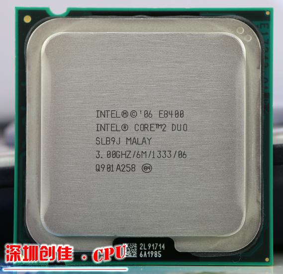 Free Shipping Intel CPU, Core2 DUO E8400 CPU/ 3.0GHz/ LGA775 /775pin/6MB L2 Cache/ Dual-CORE/65W Processor scrattered piece(China (Mainland))