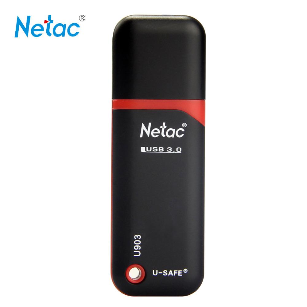 Netac Original U903 USB3.0 Flash Drive 128GB 64GB 32GB 16GB 8GB Pen Drive Memory Stick U Drive with Retail Packaging(China (Mainland))