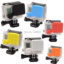 Gopro accessories 7Colors Housing Protective Waterproof Case Cover Silicone Cover Soft Lens Cap Guard for Hero3/3+/4 1pcs