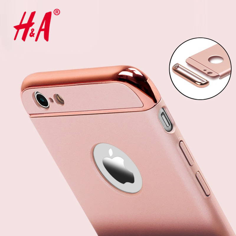 Luxury Gold Hard Case For Iphone 6 6S 4.7 Inch Back Cover Coverage Removable 3 in 1 Funda Capa Armor Back coque Cases(China (Mainland))