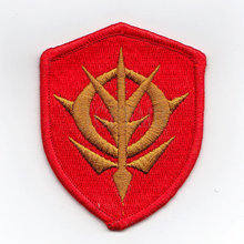 100%Embroidery Gundam AiguilleDelaz Fleet Military Tactical Morale Embroidery Patch Badges B2452