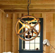 Rope Orb Chandelier Rustic Lighting Industrial Ceiling Fixture Sphere Pendant(China (Mainland))