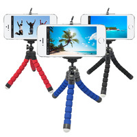 Mini Flexible Sponge Octopus Tripod with phone Holder Stand Mount for iPhone Cellphone for Action Sport Camera Monopod Styling