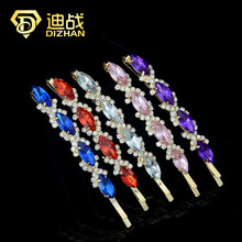 1 PCS Multi Colors Rhinestone Hair Accessaries Crystal Wheat Hairpins Barrettes Hair clips for women Hair Ornaments SF489(China (Mainland))
