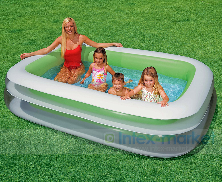 new fashion Intex swimming pool inflatable pool circle pool family piscina,size 262*175*56CM ,include Repair Patch(China (Mainland))