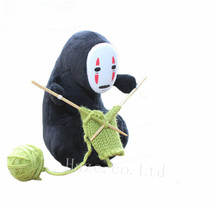 Anime Spirited Away No-Face Man Knitting Wool Soft Plush Doll Toy