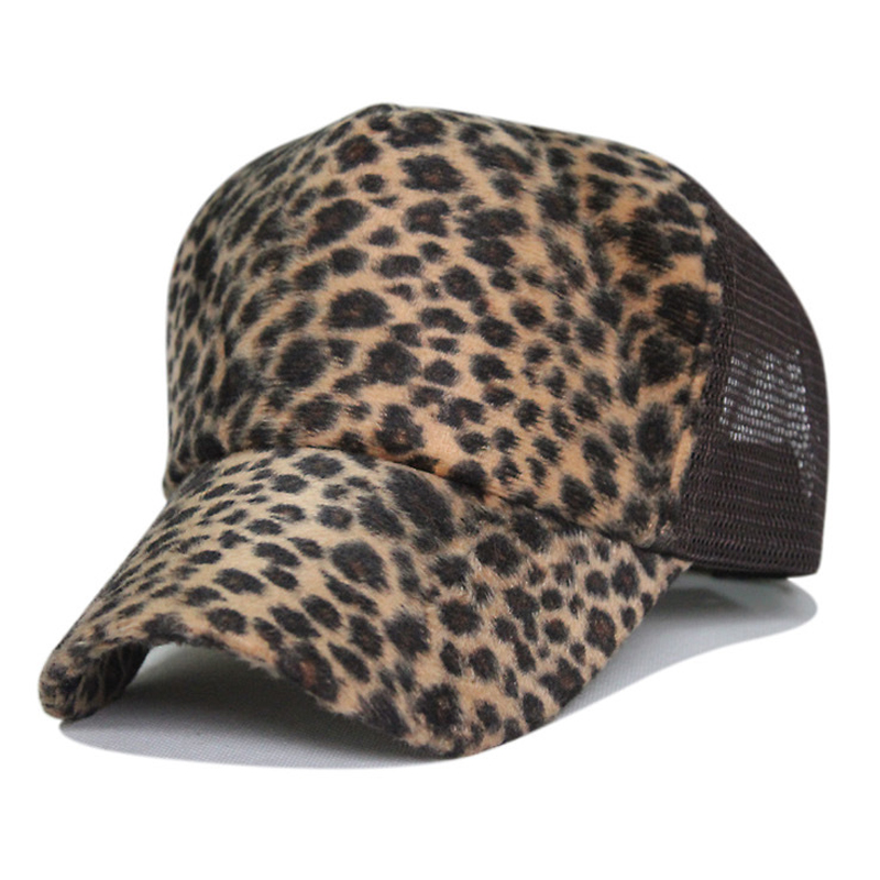 Leopard grain cotton nylon net baseball cap fashion mesh hat Leopard female outdoor sun sunhat breathable cool male truck hats(China (Mainland))