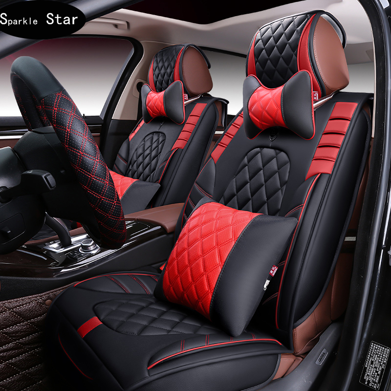 3D Sport Car Seat Cover General CushionSenior PU Leather