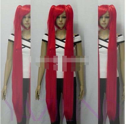 lich8890@@@FF>red Vocaloid Hatsune Miku+2 Ponytails girl party Cosplay WIG(China (Mainland))
