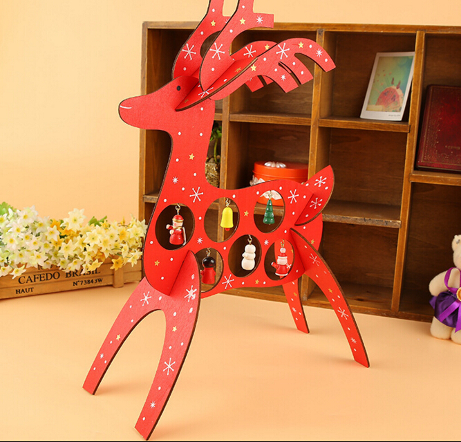 Free shipping xmas gift 1pc mini table decoration wood - Table gifts for christmas ...