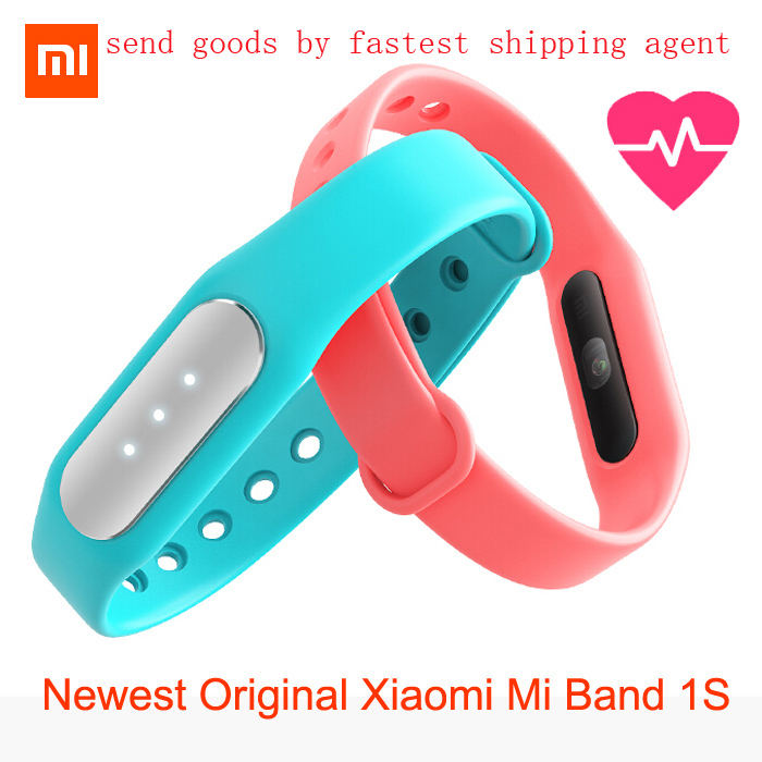 Newest Original Xiaomi Mi Band 1S featured heart rate monitor new smart wristbands for iPhone Xiaomi
