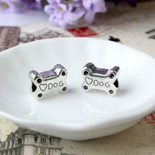 Free Shipping 2015 alloy beads Charm Dog Bones Love Beads Fit Women Pandora bracelet Bangle DIY