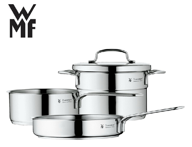 free shipping wmf mini stainless steel cookware 3 piece. Black Bedroom Furniture Sets. Home Design Ideas