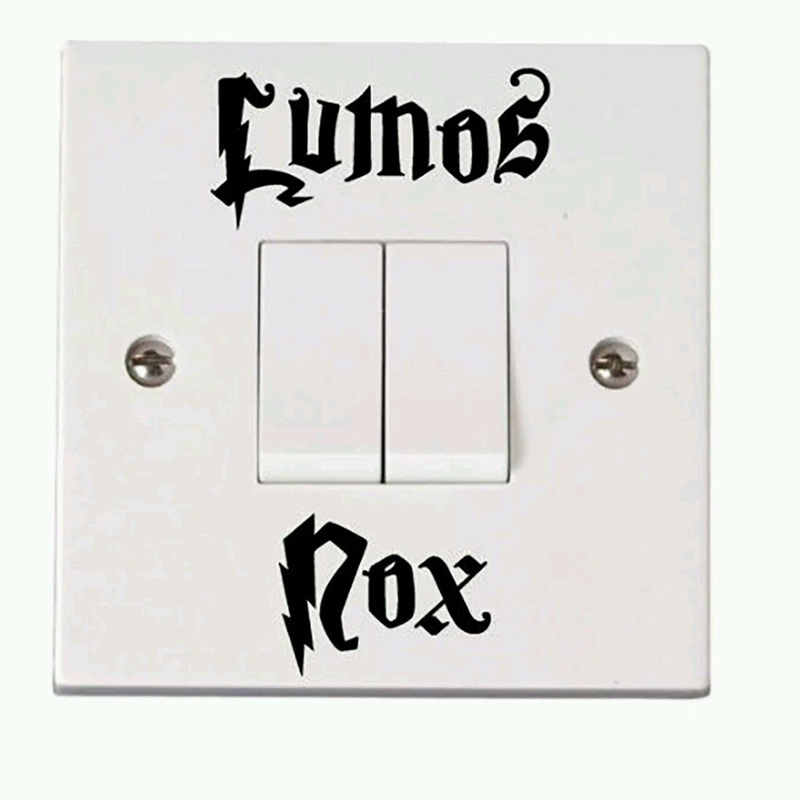 personalized fashion vinyl letter lumos nox switch stickers accessories wall stickers 1ss0013