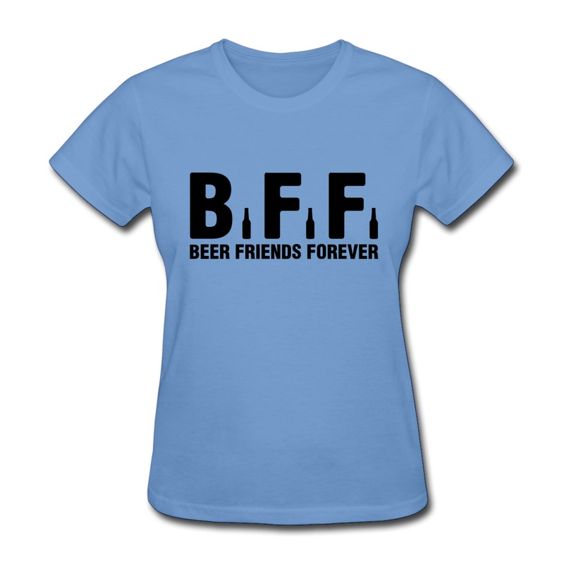 Printing Regular Womens Tee Shirt Bff Beer Friends Forever