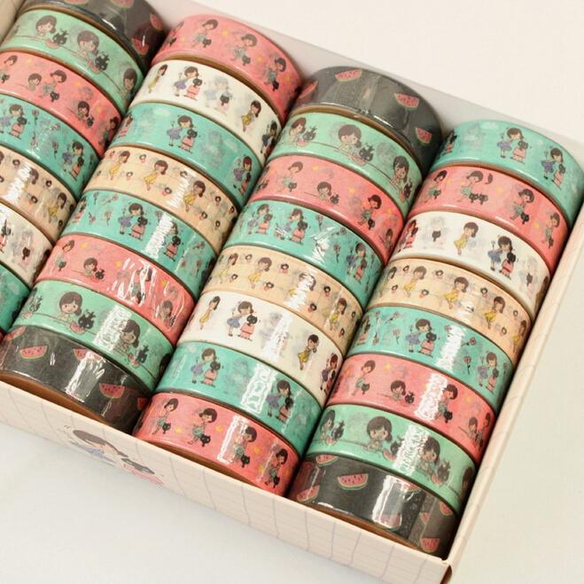 32 pcs/lot Kawaii Cartoon Girl Design Adhesive Tape DIY Scrapbooking Sticker Label Masking Tape(tt-4784)<br><br>Aliexpress