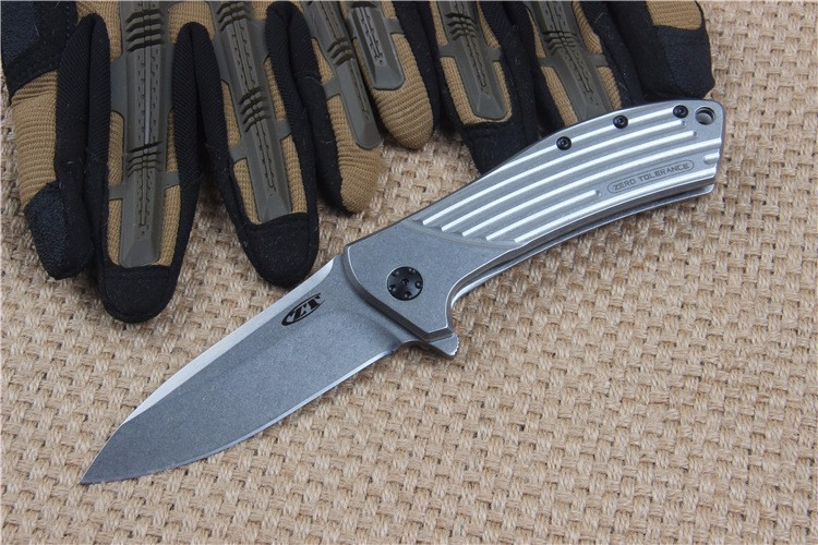 Buy High Quality ZT0801 60HRC D2 blade All-Steel handle folding knife outdoor camping survival tool tactical pocket EDC knives cheap