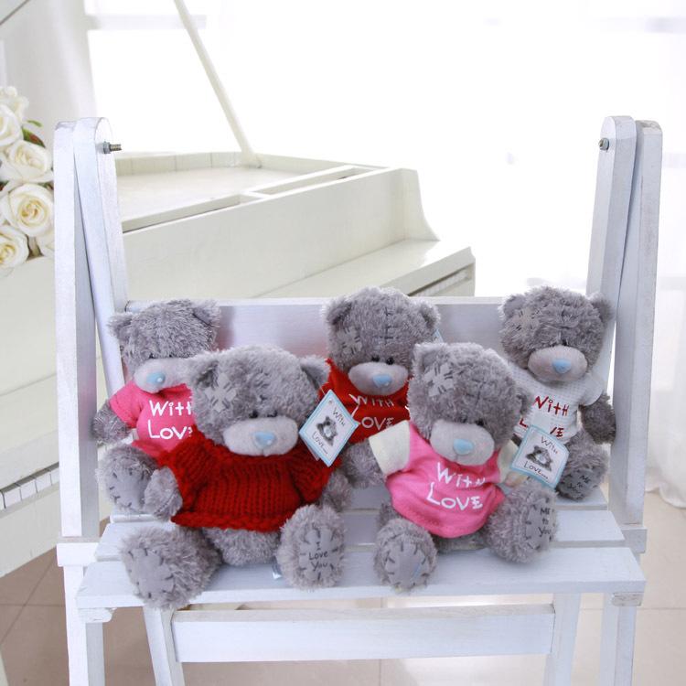 Wholsale 5pcs/lot Cartoon Giant Plush Teddy Bear Stuffed Toys Cute Bears Dolls Birthday Valentines for Kids Christmas Gift(China (Mainland))