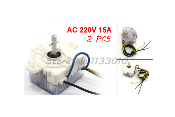 White Washing Machine Parts 3 Wires Timer Time Controller AC 220V 15A 2 Pcs(China (Mainland))