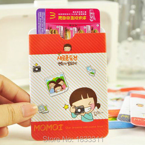 1x Cute Cartoon Card Holder Case Girl Dual Side Student ID / Credit / Bus / Name(China (Mainland))