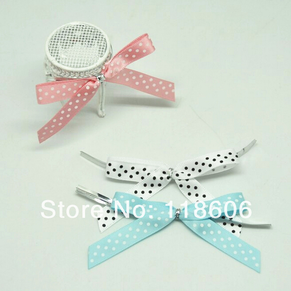 500pcs/lot 2 Small Pre Tied Polka Dot Printed Candy Pack Decoration Ployester Satin Ribbon Bow Free Shipping Одежда и ак�е��уары<br><br><br>Aliexpress