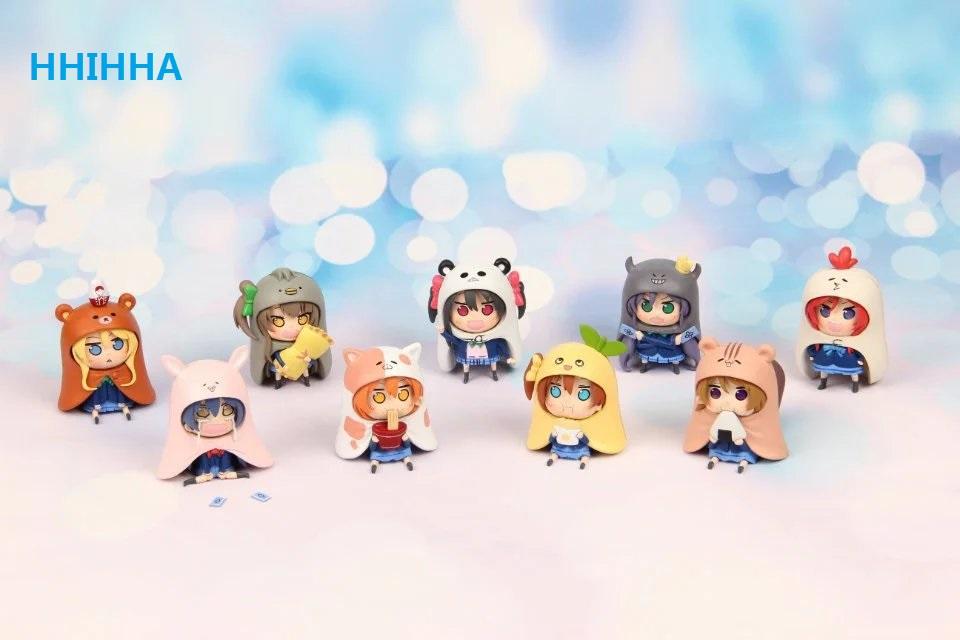 HHIHHA 9pcs/set GSC Nendoroid Japanese Anime Figure U M R Cute Nendoroid Doma Umaru PVC Action figure Model collection Toy 7cm(China (Mainland))