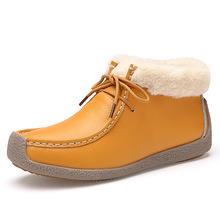 HKR 2016 mujeres del invierno de La Motocicleta del tobillo patea los zapatos de las mujeres de moda botas cortas Nieve de las mujeres de piel caliente botas de cuero botas de goma 6013(China (Mainland))