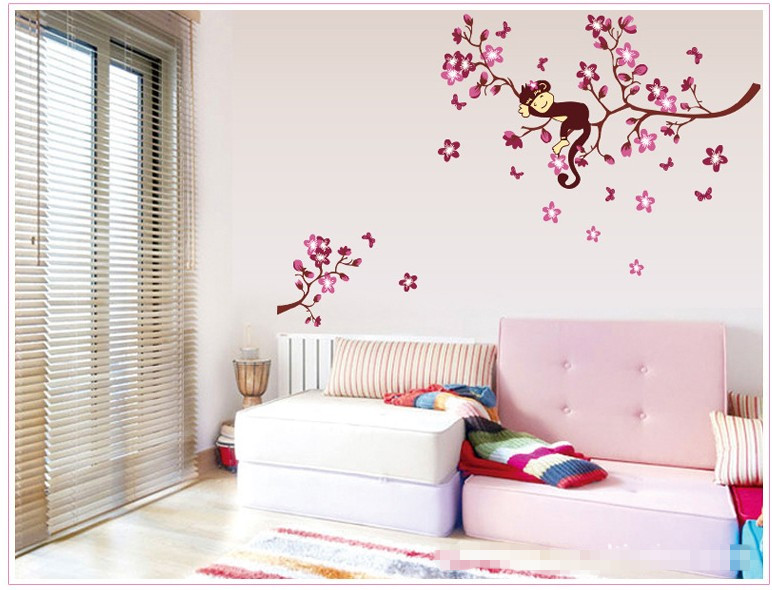 Flower animal large home decoration wall stickers for kids for Stickers para habitaciones