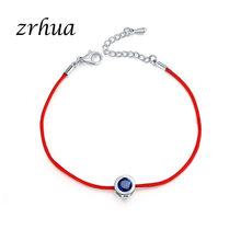 ZRHUA Charm bransoletki Femme dla kobiet mężczyźni szczęście czerwony ciąg przyjaźń chcesz bransoletki prezent urodzinowy regulowany klasyczna biżuteria(China)