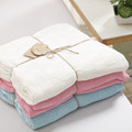 110 120cm all year round newborn baby blankets infant wrap children bamboo fiber knitted double sided