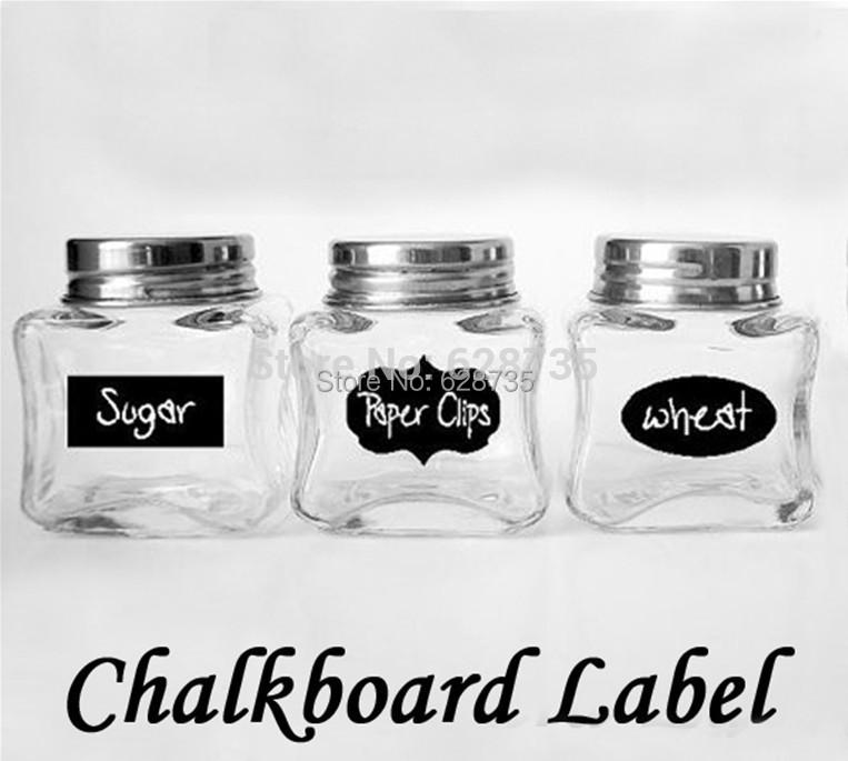 Free shipping 3 Designs 24pcs lot Vinyl Chalkboard Label Stickers Modern kitchen Organizing Chalkboard Stickers Decor