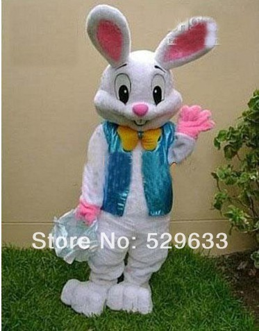 2014 sell like hot cakes PROFESSIONAL EASTER BUNNY MASCOT COSTUME Bugs Rabbit Hare Adult()