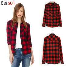 Buy Woman'S Fashion 2017 Plaid Shirt Cardigan Ladies Office Shirts Top Cotton Shirt Vintage Women Casual Shirts Korean Style for $18.80 in AliExpress store