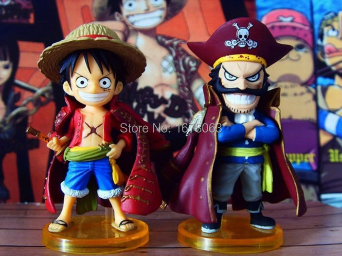 2pcs One Piece OnePiece Pirate King Gold Monkey D Luffy & Gol D Roger Dolls cartoon Limited Edition Toys action Figures Models(China (Mainland))