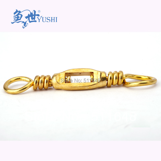 Free shipping 5PCS Box Type Brass swivel,copper swivel fishing terminal tackle