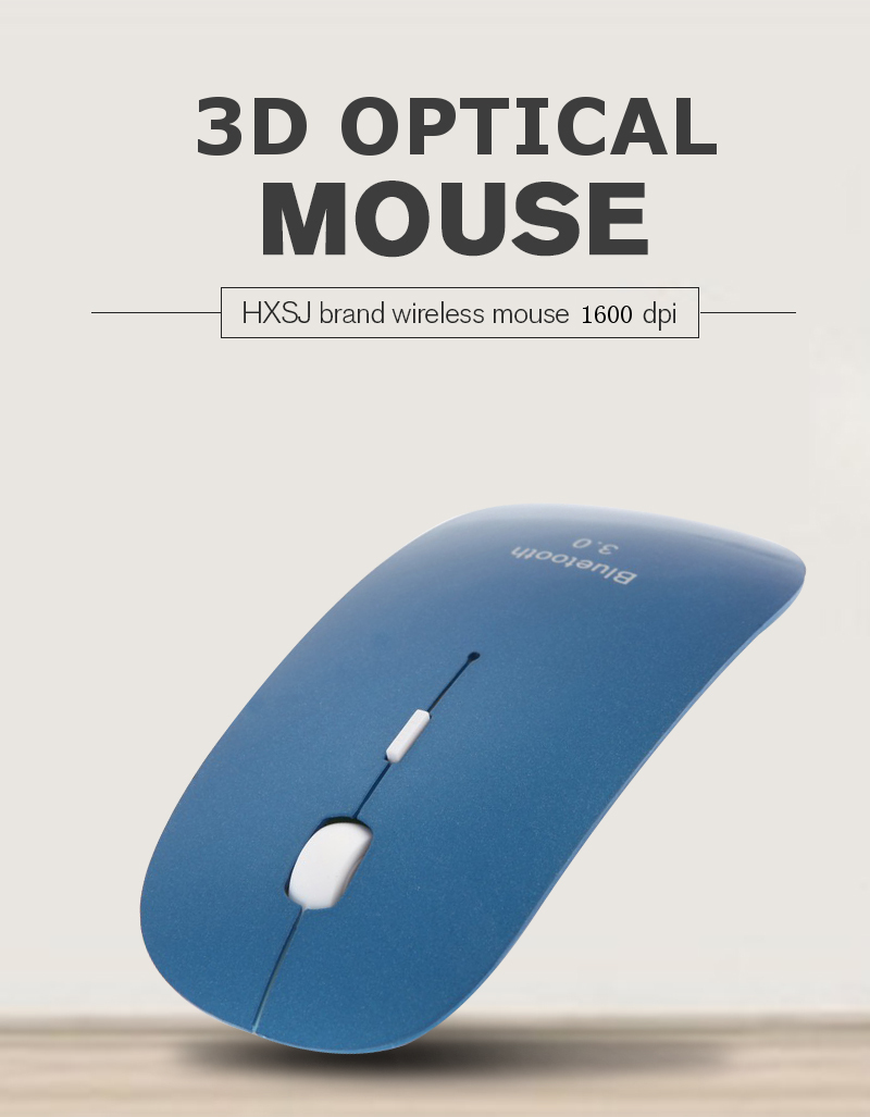 Portable 3D Bluetooth Mouse 3.0 Mini Wireless Mouse Optical Game Mouse 1600DPI Silent Click Gaming Mice for Mac PC Laptop Tablet