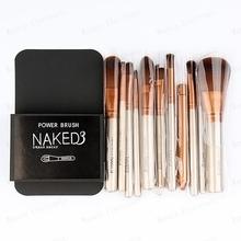 12pcs/set NAKED3 Power Brush URBAN Makeup Brushes Nake 3 Professional Make Up Brush Kit Maquiagem Beauty Eye Face Tool (China (Mainland))