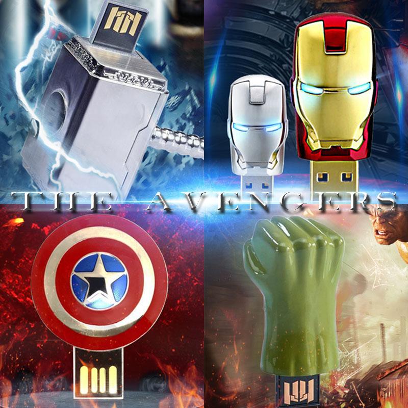 The Avengers usb flash drive iron man pen drive Captain America usb stick Hulk Thor pendrive 4G 8G 16G 32G U disk Freeshiping(China (Mainland))