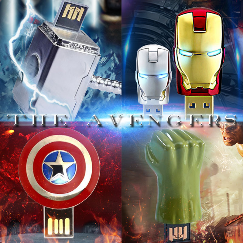 The Avengers usb flash drive iron man pen drive Captain America usb stick Hulk Thor pendrive