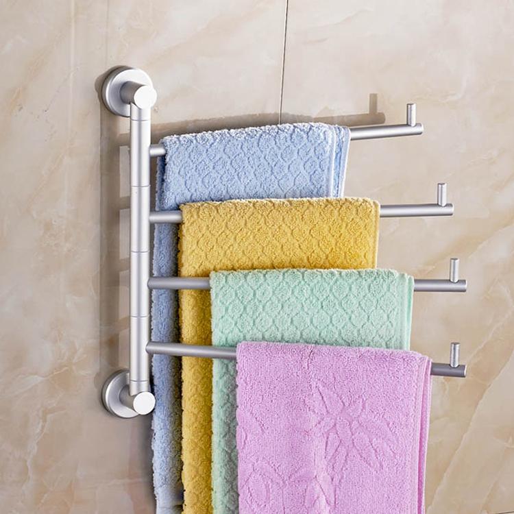 High quality solid Bathing Accessories Swivel Aluminium Wall Mounted Bathroom Towel Rail Rack Bath Room Towel Holder Hanger(China (Mainland))