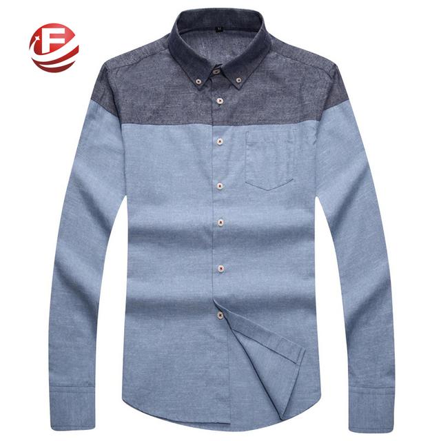 Большой размер 4XL 5XL дешевое мужчины длинные рубашки стиль пэчворк свободного покроя ...