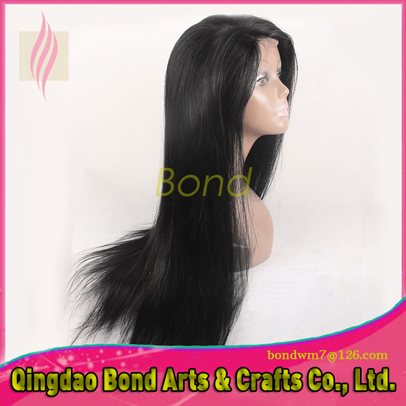 Straight brazilian hair full lace wig human hair lace front wigs with baby hair virgin brazilian hair for sale black color<br><br>Aliexpress