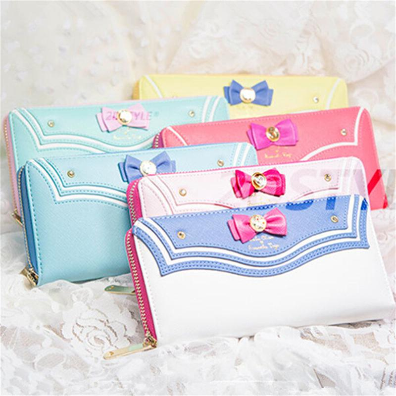 2016 Limited Edition Sailor Moon 20th Anniversary Limited Edition Ladies Long Zipper Female Bag Women Leather Wallet Purse<br><br>Aliexpress