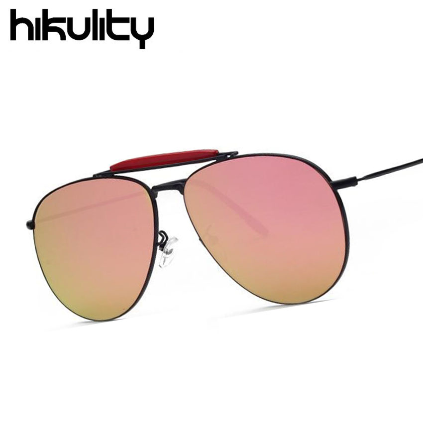 Brand Italy Design Oversized Aviator Reflective Rose Pink Classic Luxury Rimless Famous Sunglasses HD for Men or Women Superstar(China (Mainland))