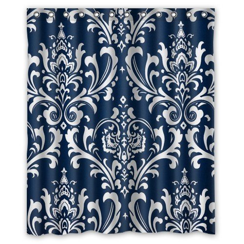 Navy Blue Patterned Curtains Promotion Shop For Promotional Navy Blue Patterned Curtains On