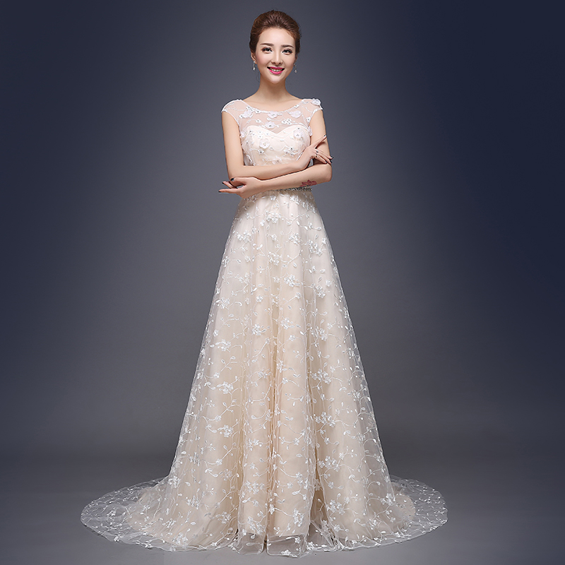 wedding dresses robe de mariage bridal wedding gowns embroidery court