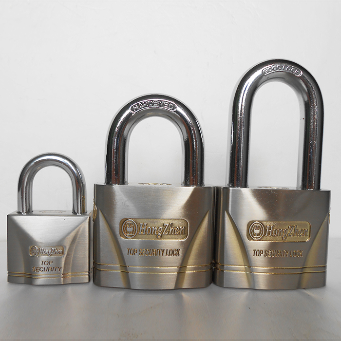 Factory direct silver-rust waterproof outdoor garden gate straight to open the padlock security tamper warehouse garage door(China (Mainland))