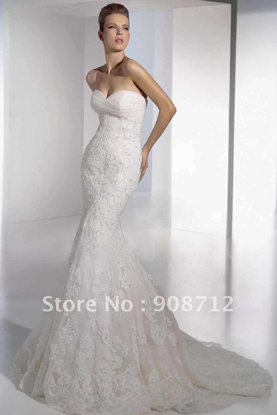 strapless white mermaid wedding dress white mermaid wedding dresses Mermaid Designer Wedding Gowns Design Your Dress